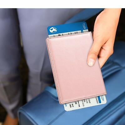 RFID Blocking Passport Holder ID Card Travel Wallet Organizer Cover Case 5