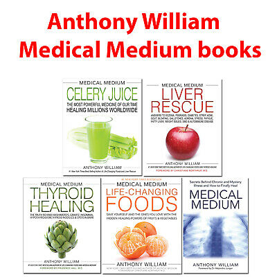 Medical Medium Anthony William collection 5 books set Liver Rescue, Thyroid Heal 2