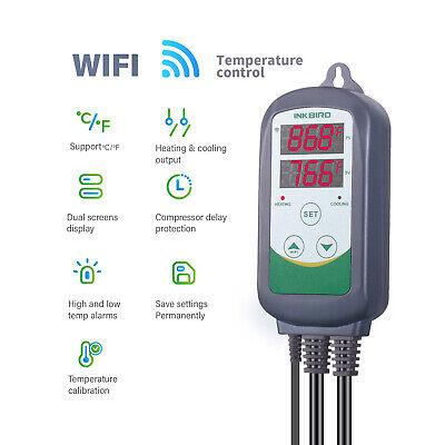 Inkbird ITC-308 WIFI Temp Controller Thermostat 2 Dual Relays 2400W AU Plug Heat 6