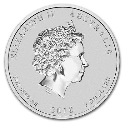 2018 Australia 2 oz Silver Lunar Dog BU (Colorized) - SKU#161444 3
