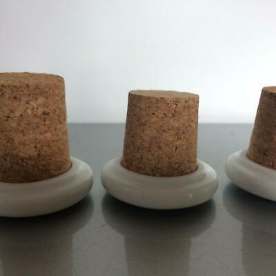 Stopfel Set Porzellan mit Kork Verschluss Flasche Flaschen (a49) 3