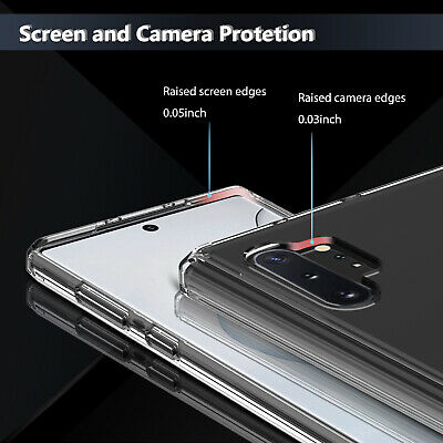 For Samsung Galaxy Note 10+ Plus Pro Hybrid Crystal Clear Armor Phone Case Cover 2