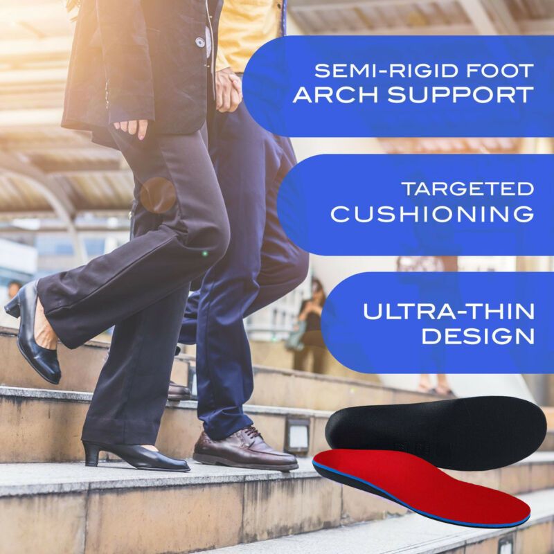 3D Orthotic Insoles Flat Feet Foot Arch Heel Support Shoe Inserts Pads Cushion