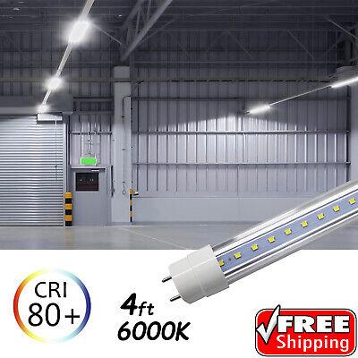 10-100 PACK LED G13 4FT 4 Foot T8 Tube Light Bulbs 18W 6000K CLEAR OR MILKY LENS 2