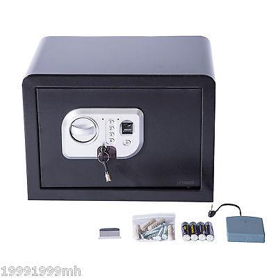 Digital Fingerprint Safe Box Electronic Security Wall Mount Gun Cash Home Office