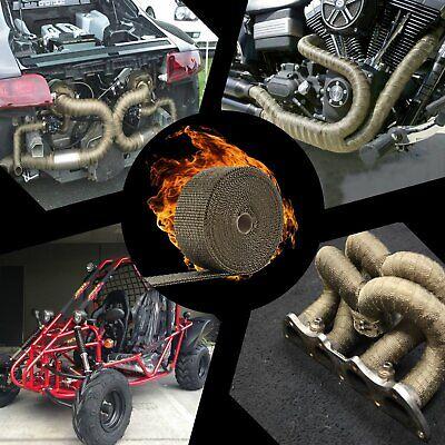 "LEDAUT 2"" x 50' Titanium Exhaust Heat Wrap Roll for Motorcycle Fiberglass Hea... 5"