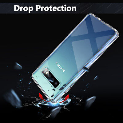 For Samsung Galaxy S10 / S10+ Plus Crystal Clear Ultra Slim TPU Phone Case Cover 4