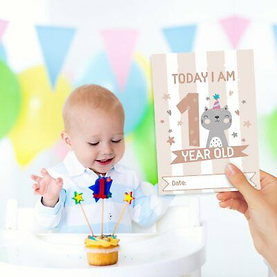Baby Milestone Cards ~ 1st Year Memorable Moments Boy Girl Unisex Age 6