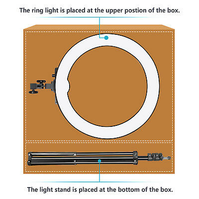Neewer 18-inch Outer Dimmable SMD LED Ring Light Lighting Kit with Light Stand 2