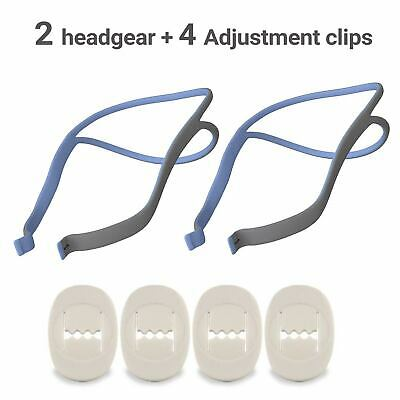 2 Pack of Headgear assembly compatible with Resmed Airfit P10 with 4 Clips 2