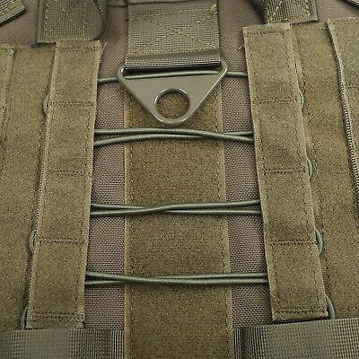 US Police K9 Tactical Training Dog Harness Military Adjustable Molle Nylon Vest 8