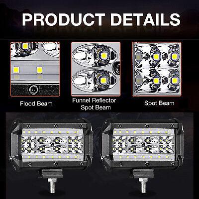 """2x 5"""" 168W LED Arbeitsscheinwerfer Offroad Scheinwerfer 12V mit Kabelbaum Relais 4"""