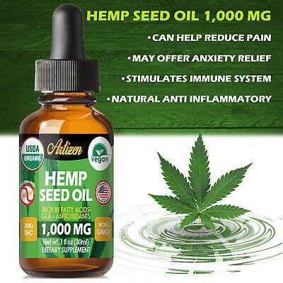 Best Hemp Oil Drops for Pain Relief, Stress, Sleep (PURE & ORGANIC) - 1000 mg 5