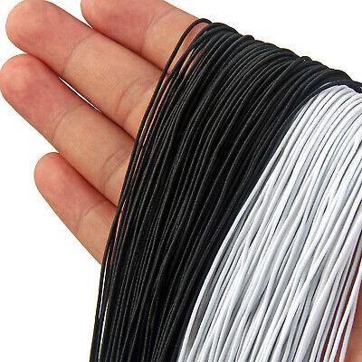 2.5mm Noir Blanc Rond Extensible Cordon Élastique Taille Band Pour Tissé Couture 2