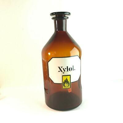 (m121)  2l Liter Flasche Apotheke Labor Stopfen 29 cm 2000ml XYLOL label 3