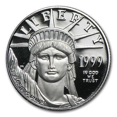 1999-W 1/4 oz Proof Platinum American Eagle (w/Box & COA) - SKU #8587 2