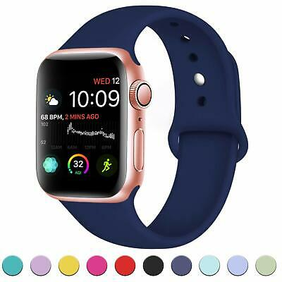 for Apple Watch iWatch Series 5 3 4 38/40/42/44mm Soft SILICONE Sport Strap Band 3