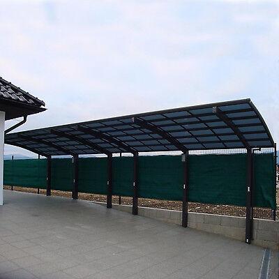 DOPPELCARPORT BOGENDACH GARAGE Unterstand Aluminium Carport Bausatz ...
