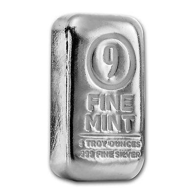 5 oz Silver Bar - 9Fine Mint - SKU# 156273 3