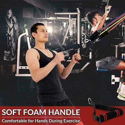Resistance Bands Heavy Workout Exercise Yoga 11 Piece Set Crossfit Fitness Tubes 12