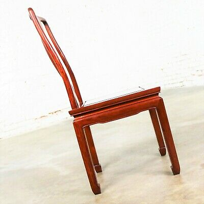 Asian Teak Hand Carved Side Chair in the Style of George Zee 5