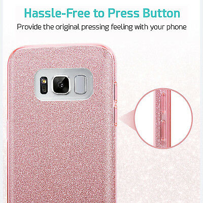 For Samsung Galaxy S9 Note 8 S8 S8 Plus Case Genuine Zuslab Rosy Sparkle Cover 12