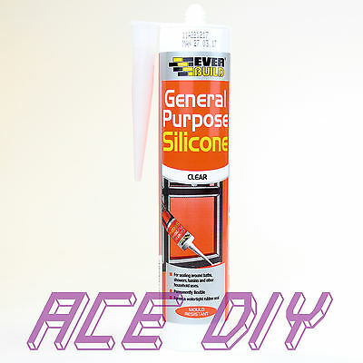 General Purpose Silicone 80 ml or C3 310 ml Sealant Clear White Brown Black Grey 5