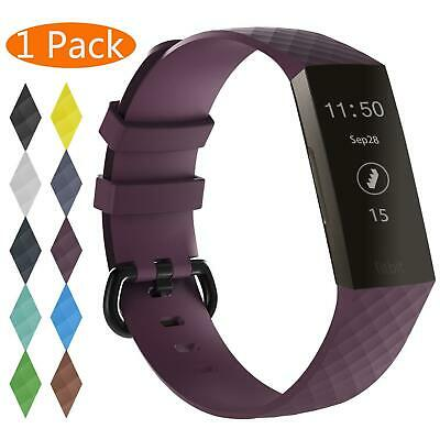 For OEM Fitbit Charge 3 Replacement Wrist Band Silicone Bracelet Watch Rate Fit 7