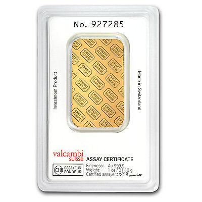 SPECIAL PRICE! 1 oz Credit Suisse Gold Bar In Assay .9999 Fine - SKU #82687