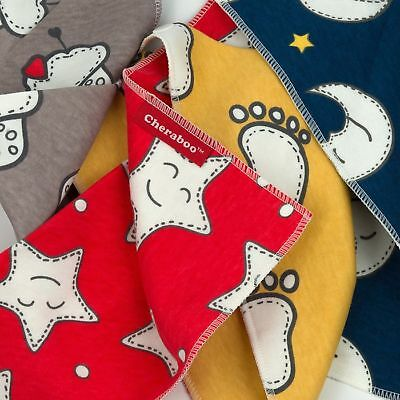 Baby Bibs Bandana Drool Bib 4 Pack by Cheraboo Gift Set Reversible & Soft 9