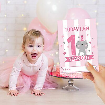 Baby Milestone Cards ~ 1st Year Memorable Moments Girl Girls Age 6