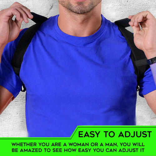 Posture Corrector Women Men Shoulder Brace Back Support Strap Belt Adjustable AU 3