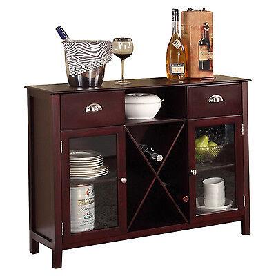 BUFFET CABINET HUTCH Dining Kitchen Server Furniture Wine ...