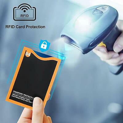 Numbered Travel RFID Sleeves Set -14 Credit Card Protectors & 5 Passport Holders 7