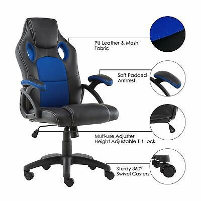 Office Chair Executive Racing Gaming Swivel Pu Leather Sport Computer Desk 4