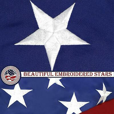 G128 – American Flag US USA | 6x10 ft | Commercial-Grade NYLON Embroidered Stars 5