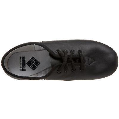 JAZZ DANCE SHOES Black unisex Leather split suede sole pumps irish hard jig (CC) 9