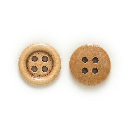 50pcs 4 hole Wood Buttons for Sewing Scrapbook Clothing Crafts Gift 15mm 3