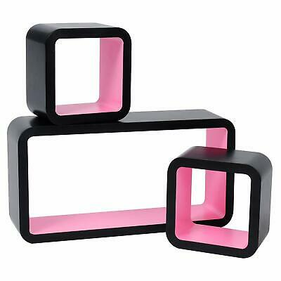 Floating Wall Mount Shelf Cube Storage Display Shelves Set Of 3 Modern Design 12
