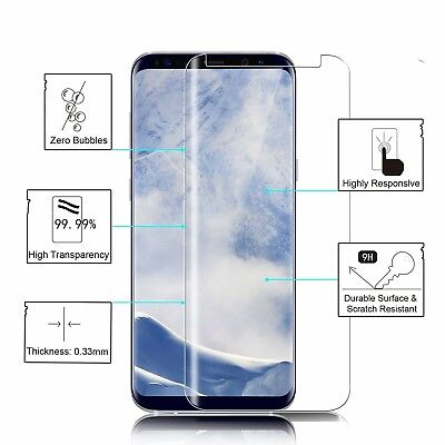 Case Friendly Tempered Glass Screen Protector For Samsung Galaxy S8 S9 S10 Plus 2