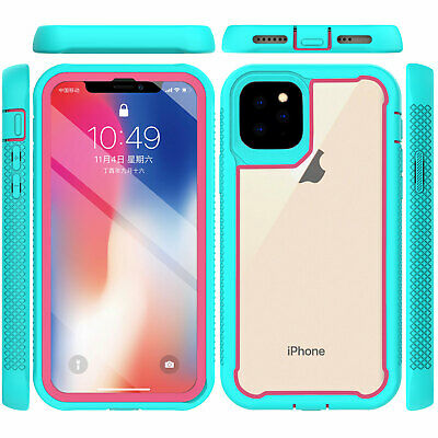 For iPhone 11 Pro Max 2019 Case Hybrid Heavy Duty Shockproof Clear Back Cover 2