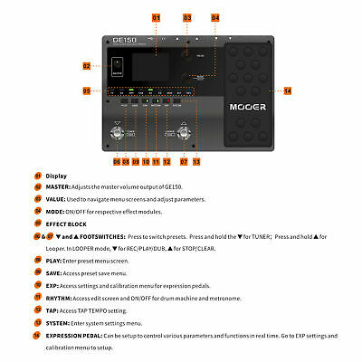 MOOER GE150 Amp Modelling & Multi Effects Pedal 55 Amplifier Models New release 6