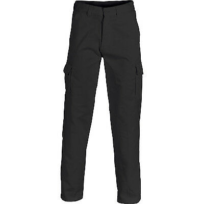 Mens Cargo Pants Work Pants Cotton Drill 8 Pockets Black Navy Heavy Duty UPF50 4