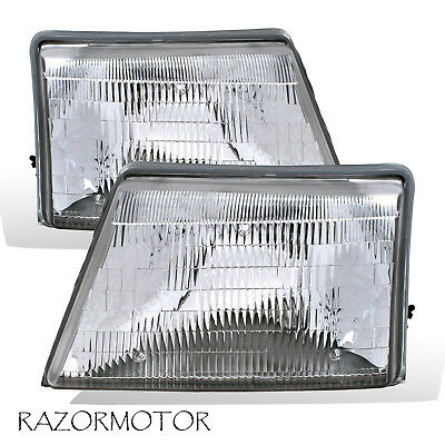 1998-2000 Replacement Headlight Pair For Ranger Pickup Truck w/Bulb 2