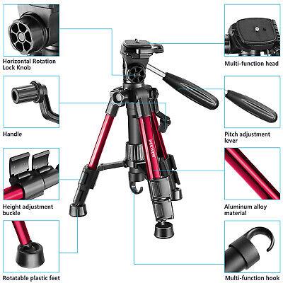 Neewer Red Mini Travel Tabletop Camera Tripod 62cm with 3-Way Swivel Pan Head 2