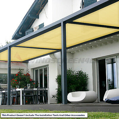 Canary Yellow Customize 8/'FT Fabric Roll Shade Cloth Fence Windscreen Privacy UV