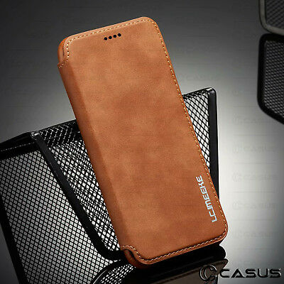 For Galaxy Note 10/9/8 S10/S9 Plus Leather Wallet Stand Thin Slim Case Cover 2