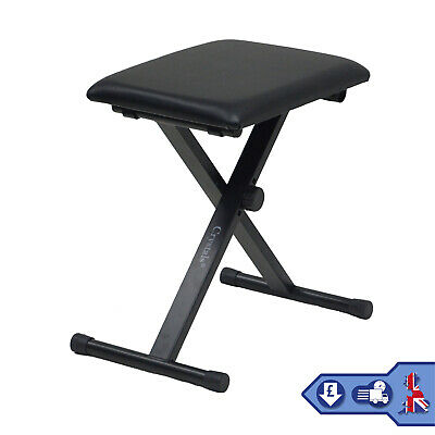 Height Adjustable Piano Stand & Stool Rectangular Frame Keyboard Stand Full Size 3