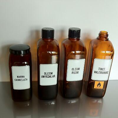 (b50) Braune Schraubgläser Apotheke Arzt Vorrat Tee 1l 1000ml Apothekerflaschen 2