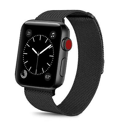 For iWatch Apple Watch Series 3/2/1 Watch Metal Band Strap Adjustable 38mm/42mm 3